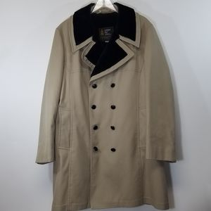 London Fog Coat Trench Top Coat Pile Lined 46 Long